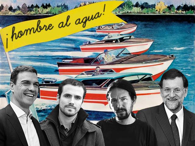 4 barcos para 4 políticos