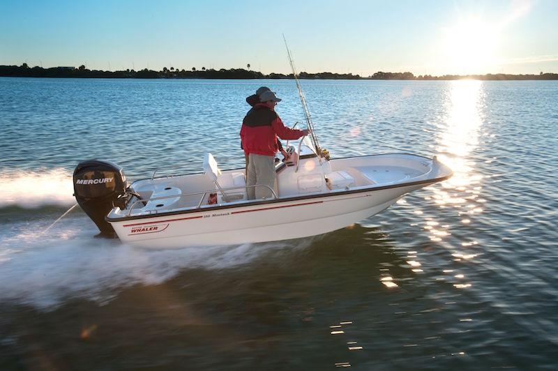 Comprar barco a motor consola central Bosotn Whaler 150 Montawk