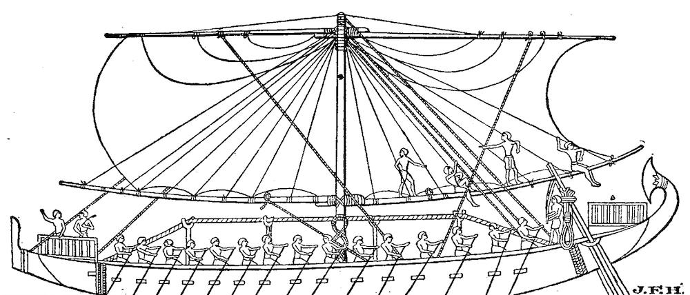 Barco antigo Egipto Cecil Torr