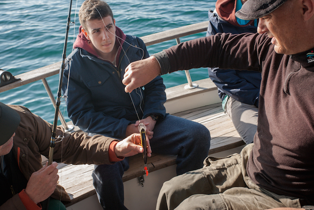 Preparando la pesca