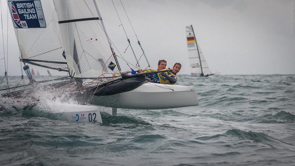 Campeonato de Europa de Nacra 17 Ben Saxton y Nicola Groves