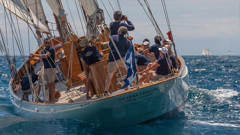 comprar barco de madera - barniz brillante - Sumurun - Regata Vela Clàssica Barcelona