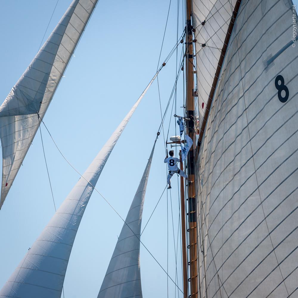 comprar barco de madera - jarcia - Regata Vela Clàssica Barcelona