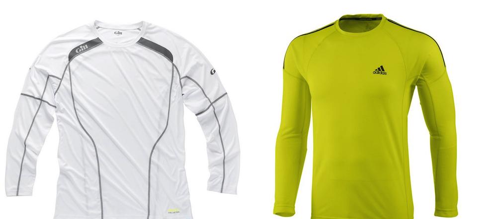 Gill adidas sailing UV proteccion camisetas