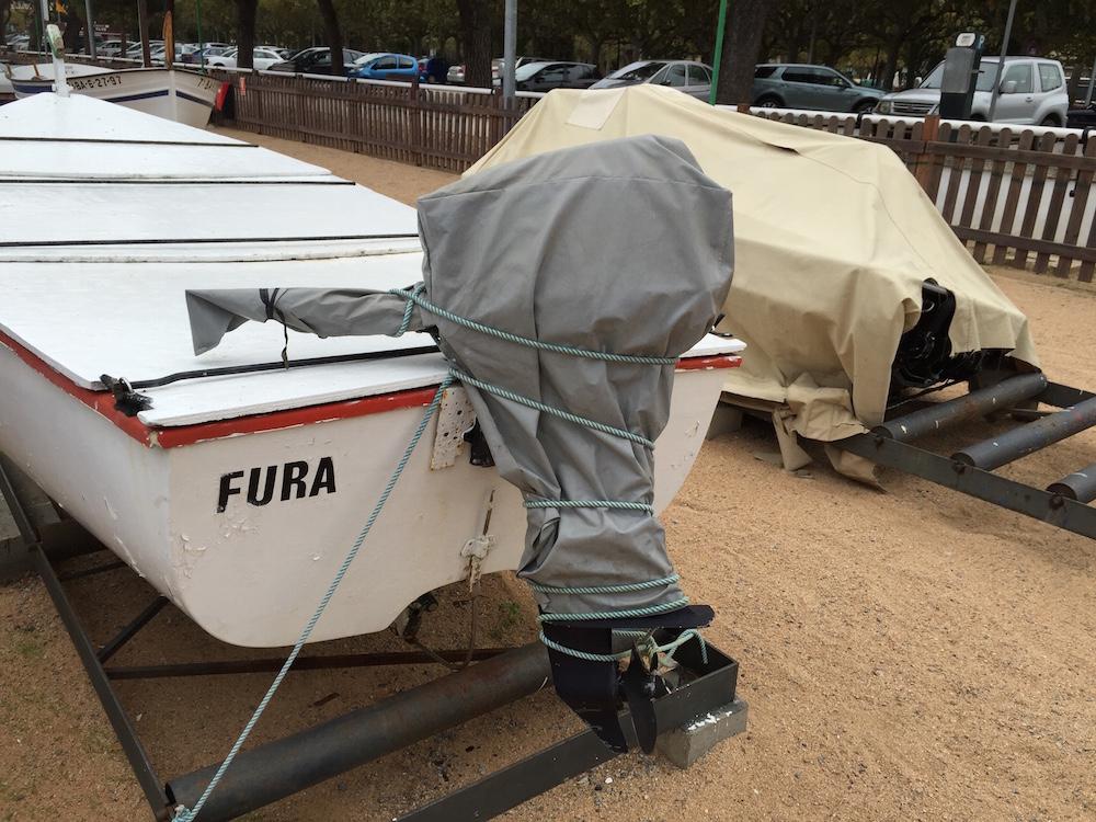 Invernar motor fueraborda - cubrir