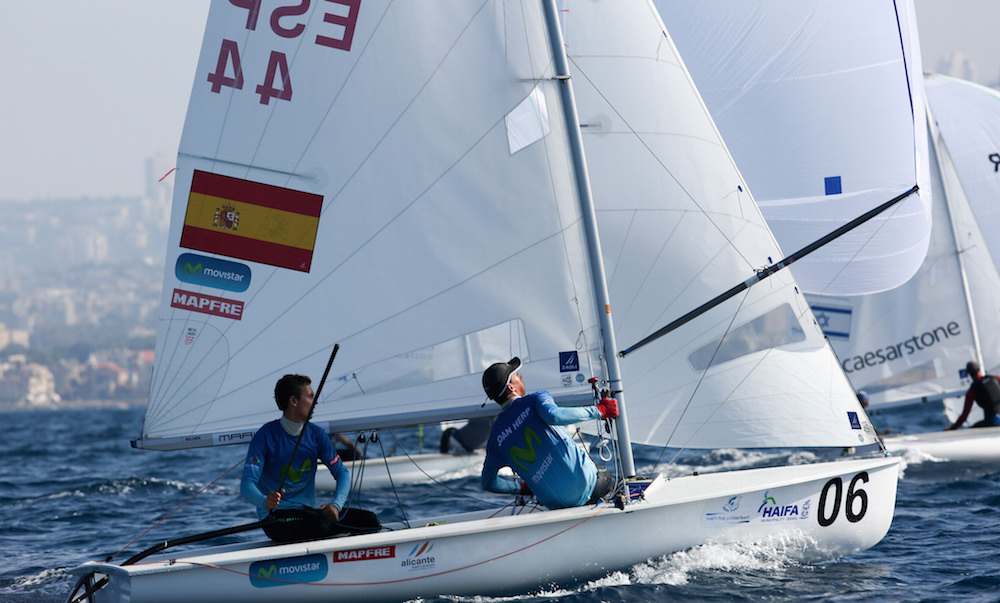 Jordi Xammar clase 470 europeo Haifa 2015