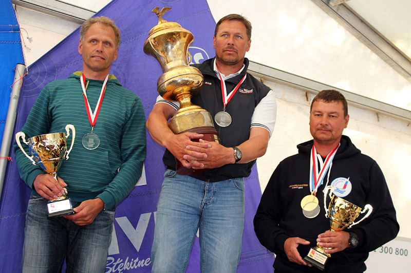 Campeonato del Mundo Master Finn podio 2014 Sopot