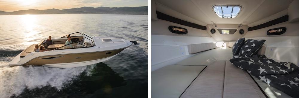 barco a motor cabinado cuddy