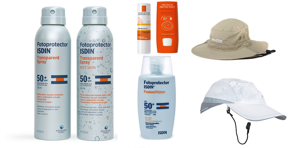 fotoprotectores y gorras vela verano