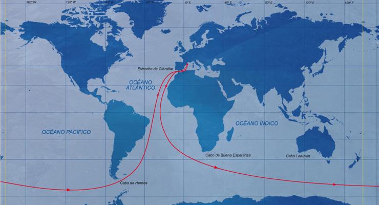 mapa barcelona world race recorrido 2014