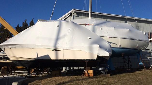 Barcos retractilados